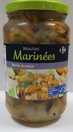 Moules marinées Carrefour