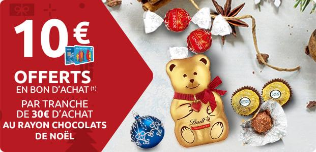 10€ Offerts sur les Chocolats de Noël (1)