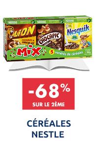 Céréales 6 mini-paquets nestle : -68% sur le 2ème