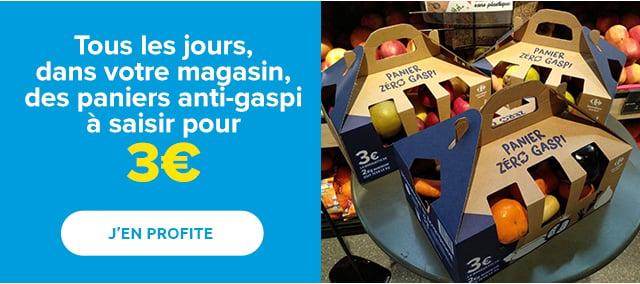 Tous les jours, dans votre hypermarché, des paniers anti-gaspi à saisir pour 3€