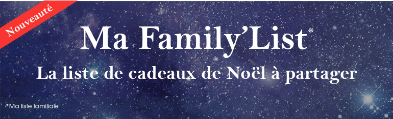 Nouveauté : Ma Family'List* !